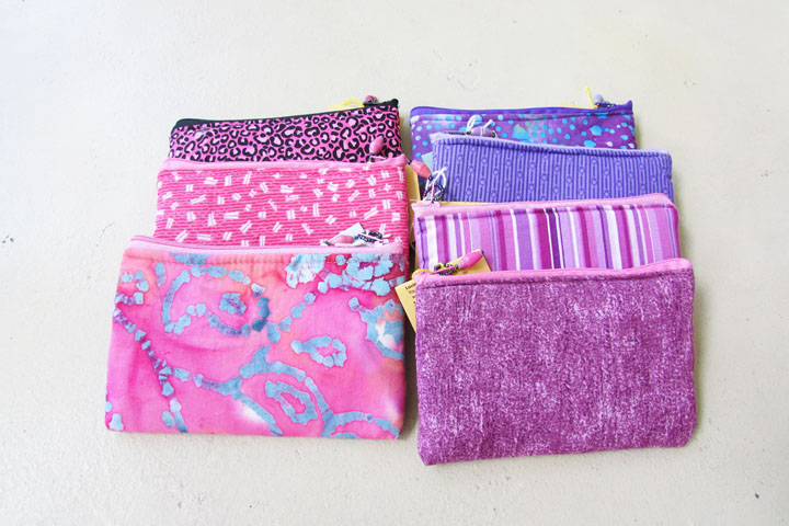 Cloth Coin Purse - pinks and purples