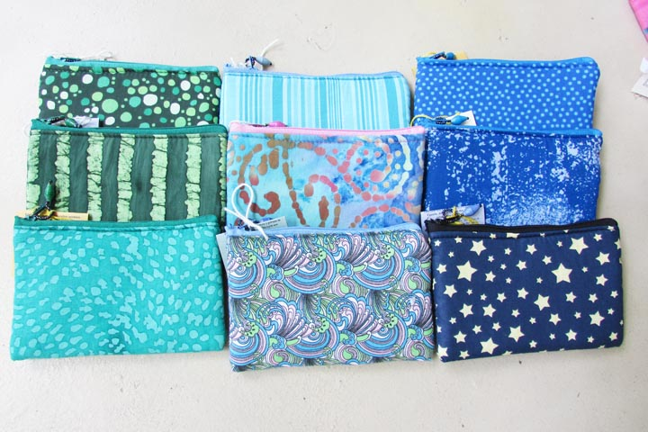 Cloth Coin Purse - blues and greens