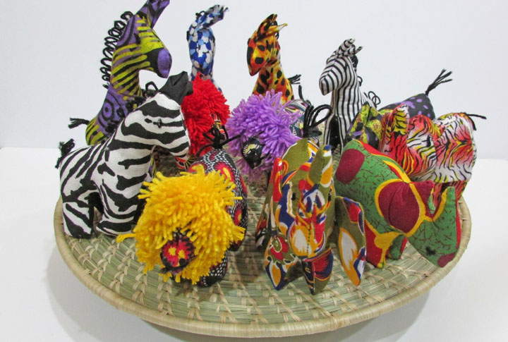 African Stuffed Animals - assorted