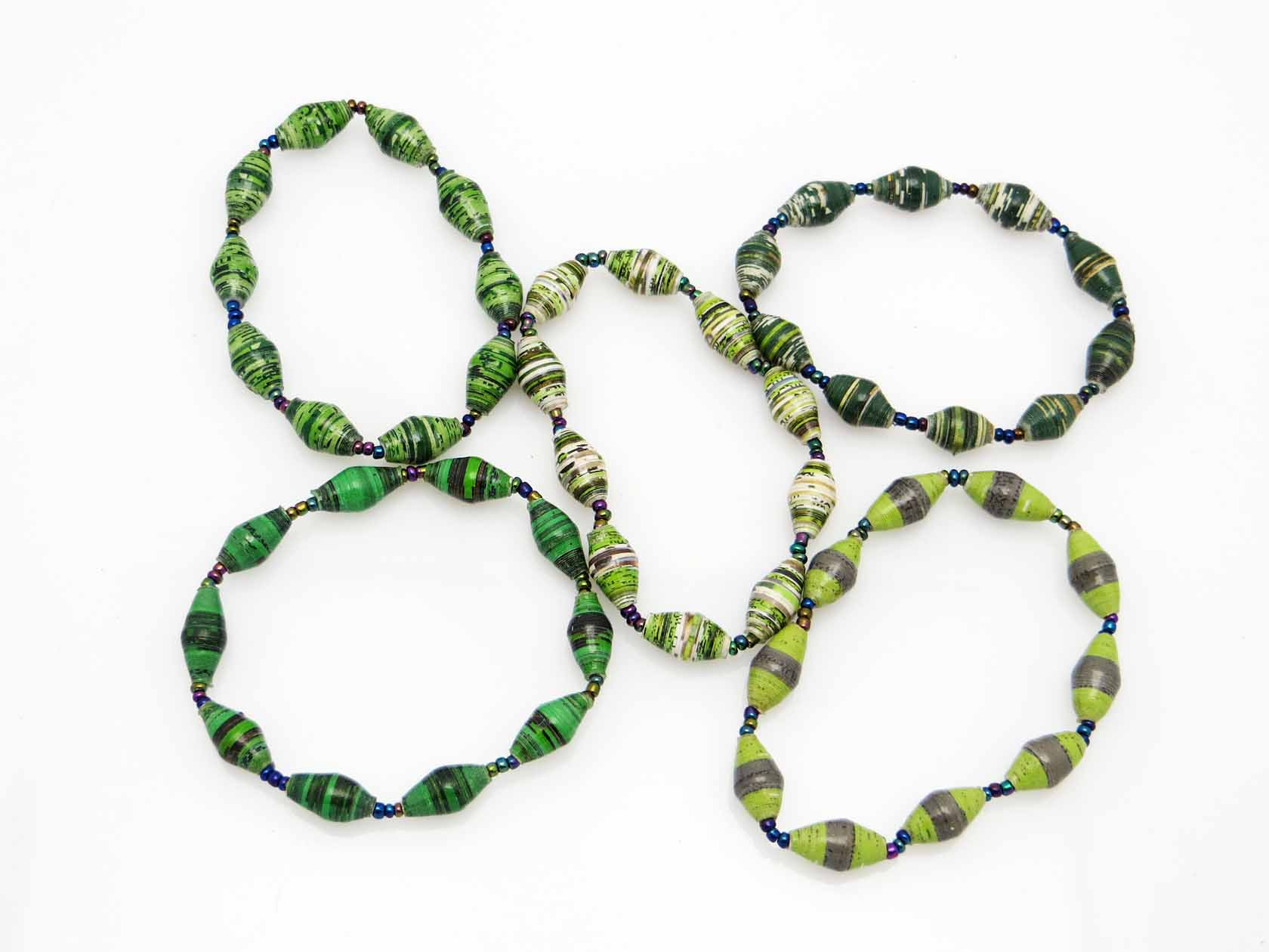 Bracelet - green-striped