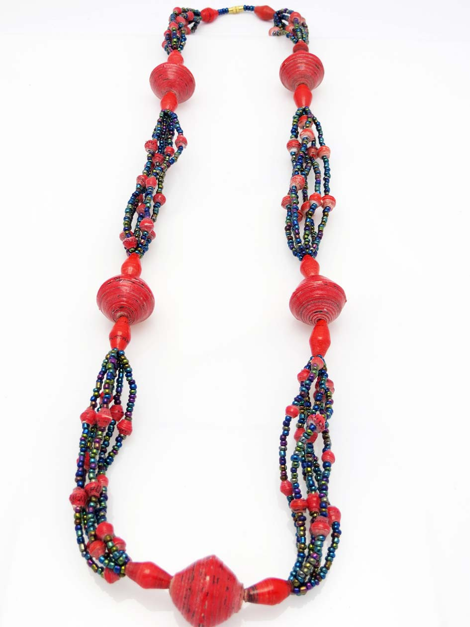 Cecilia's Specialty Necklace - in red