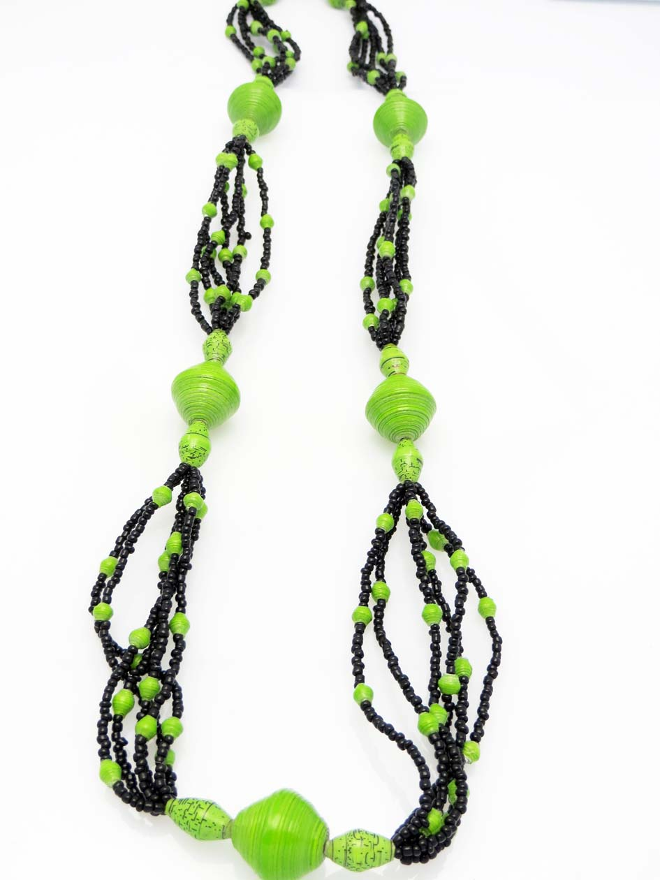 Cecilia's Specialty Necklace - in lime green