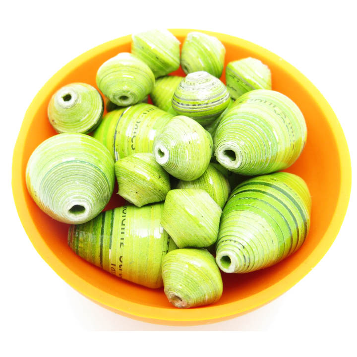 Lime green ovals beads