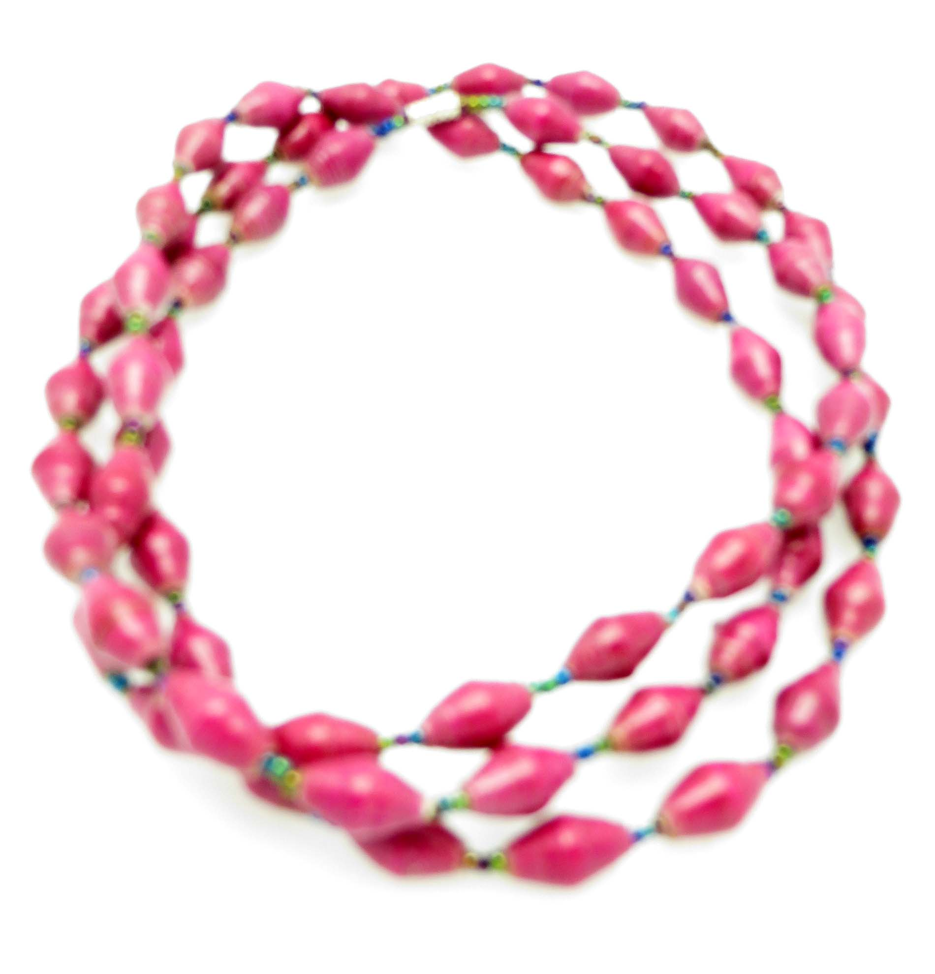 Hot pink long necklace