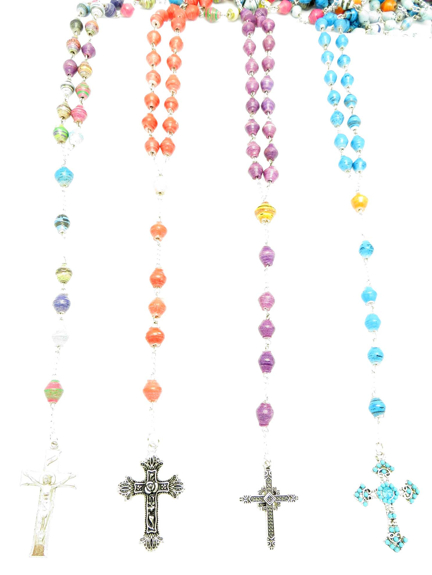 Rosaries - assorted paper bead styles