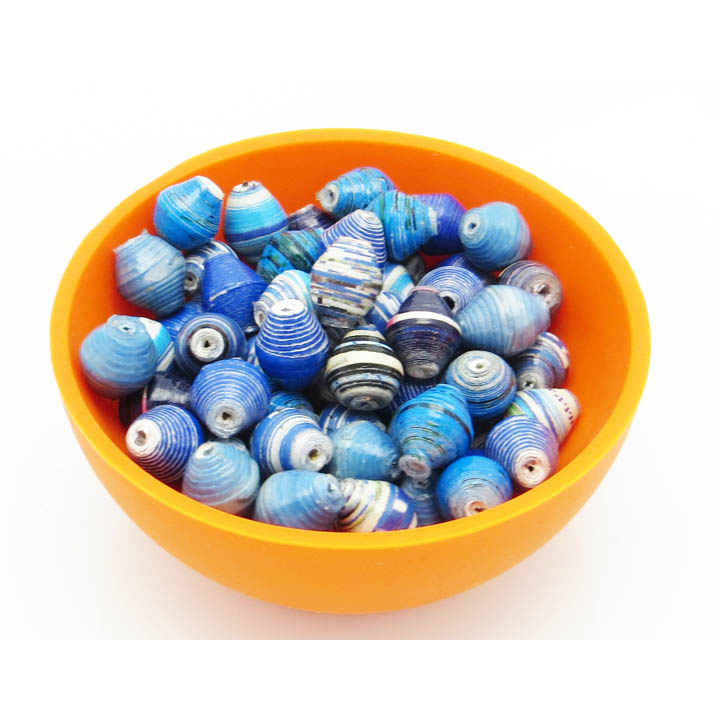 Mini cone beads - shades of blue