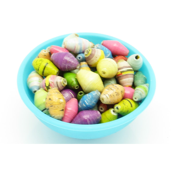 Pastel multicolor loose beads