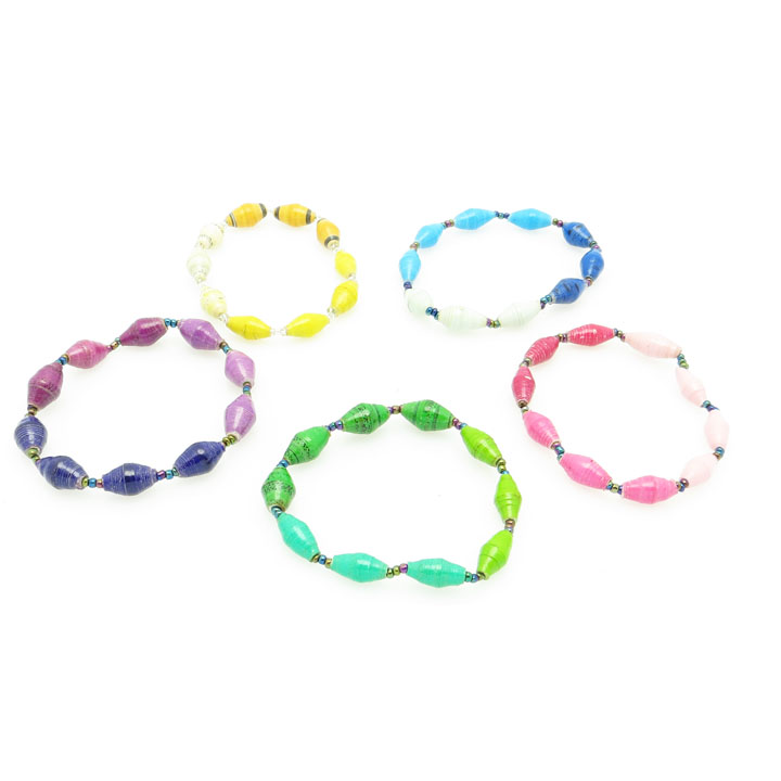 Bracelet - assorted tri-color