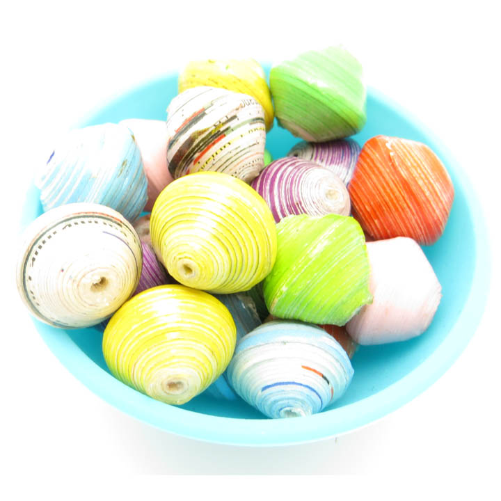 Round beads - spring multi-color