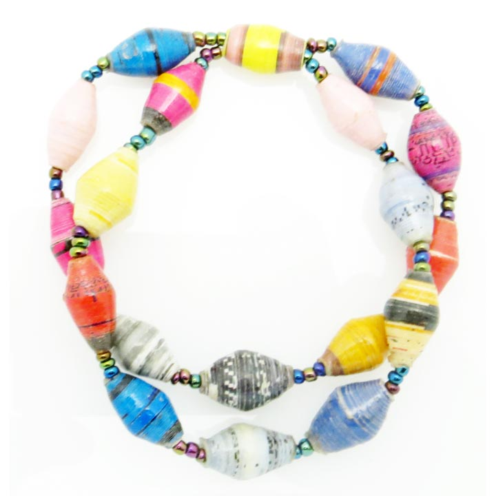 Multi-color double bracelet (to match the necklace)