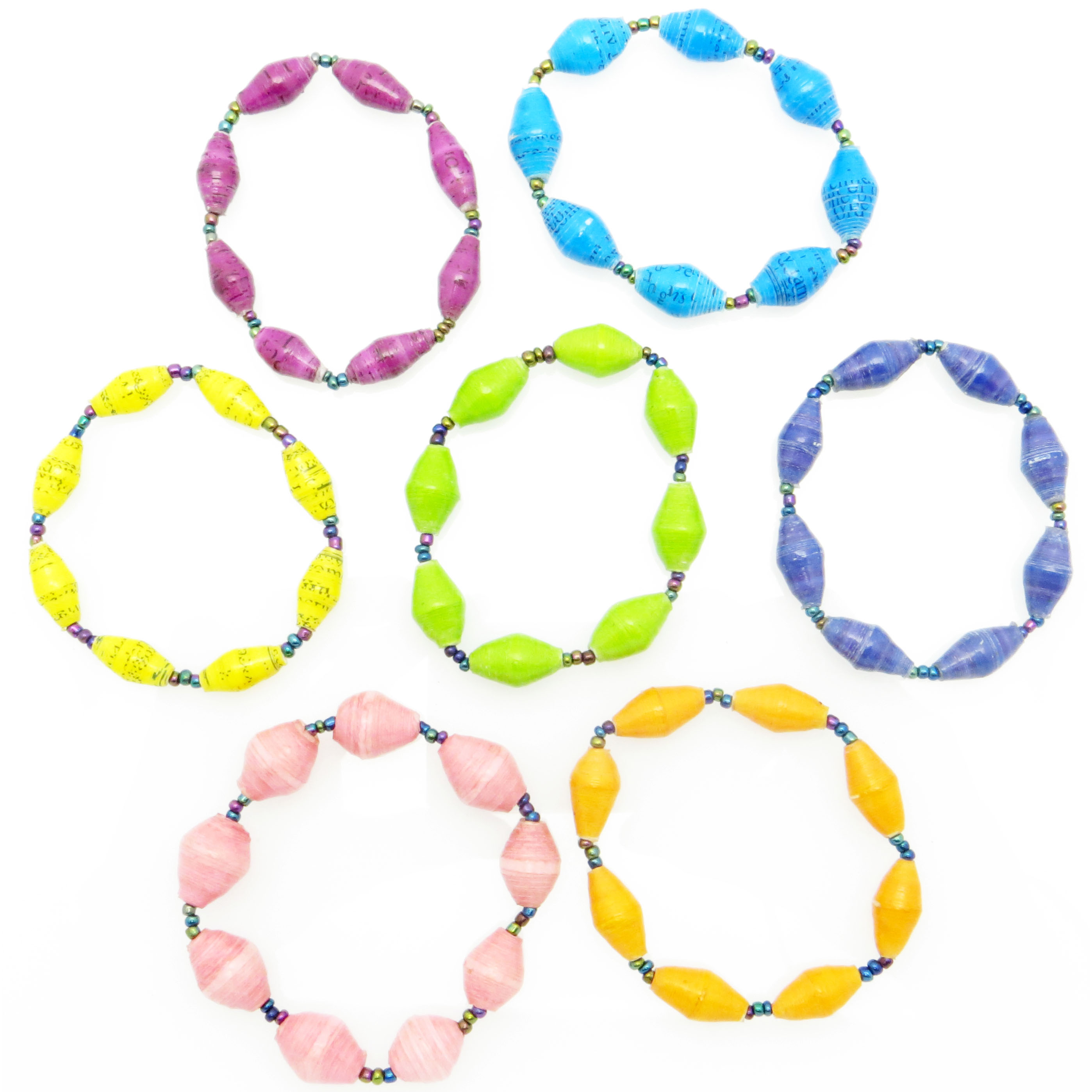 Child's bracelet - bright solid colors