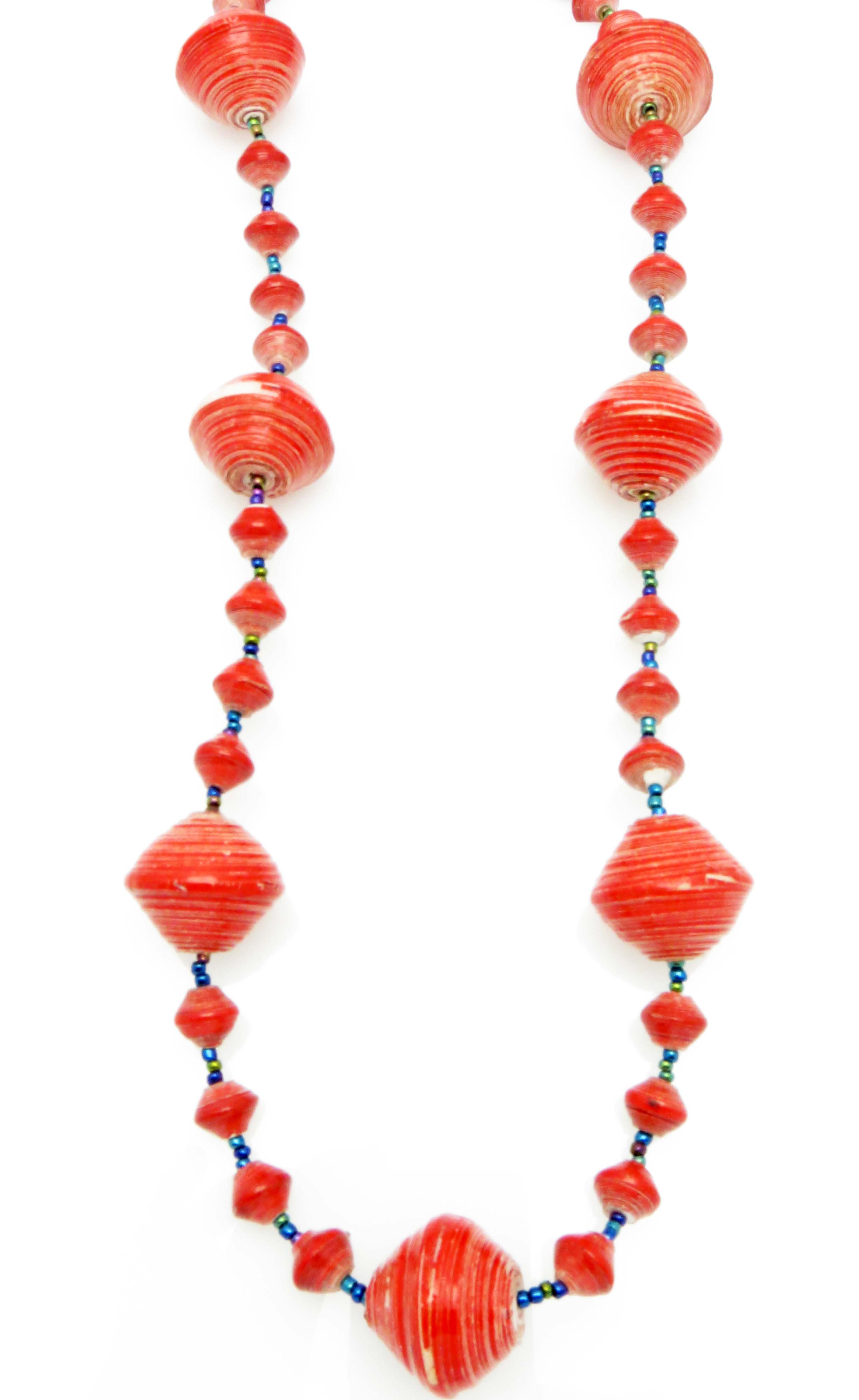 Red gigantic bead necklace