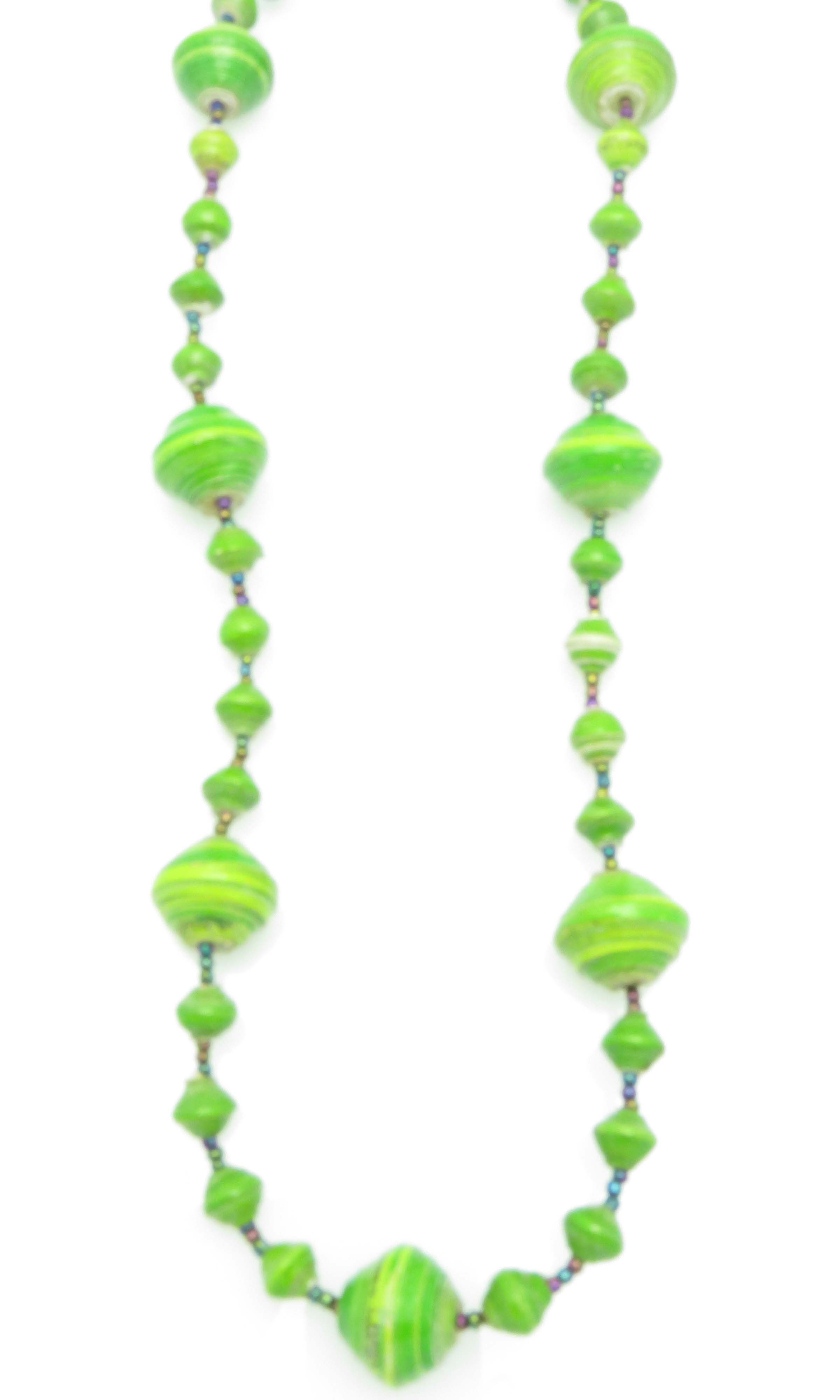 Lime green gigantic bead necklace