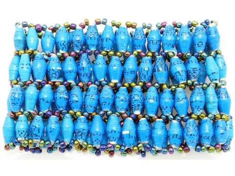 4-wide bracelet - turquoise