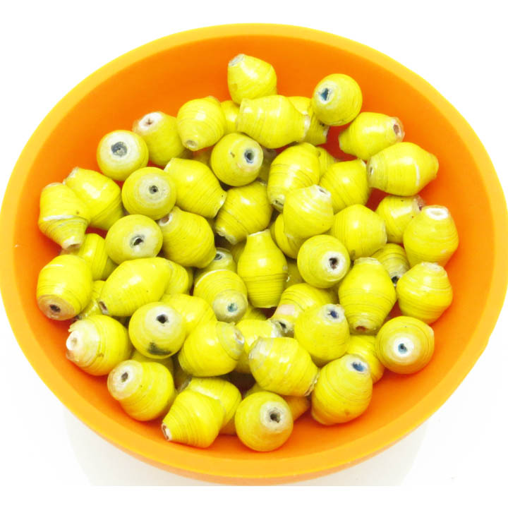 Mini cone beads - yellow