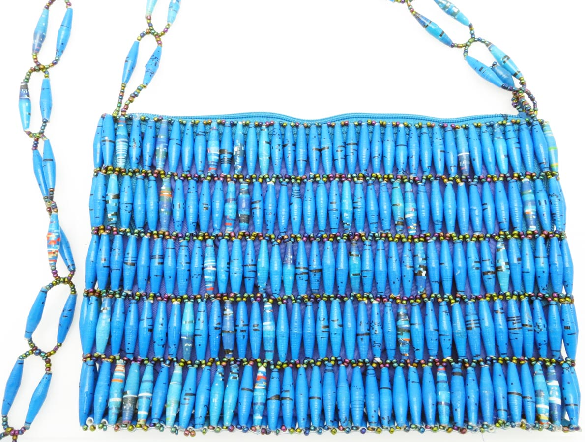 Beaded purse - turquoise