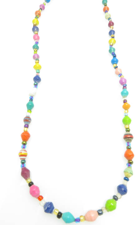 Multi-color chunks necklace