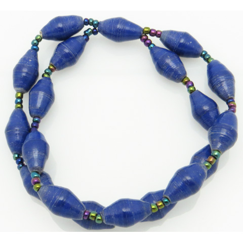 2-strand bracelet - royal blue