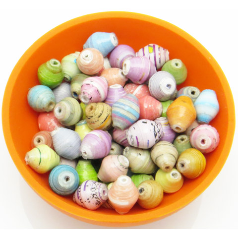 Mini cone beads - multicolor pastel