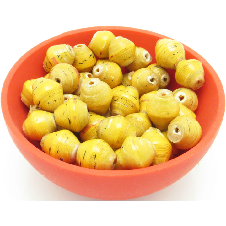 Mini cone beads - golden maize