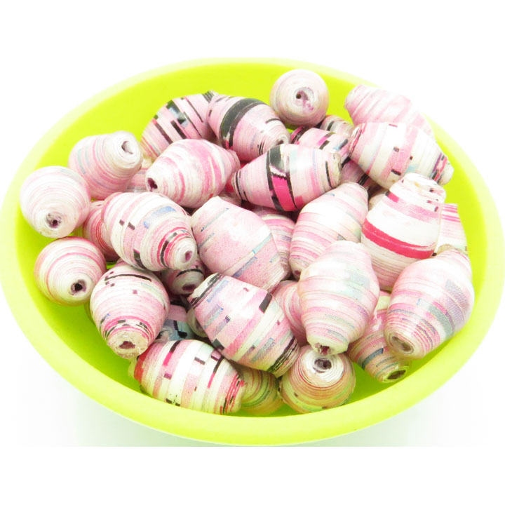 Pink variegated beads