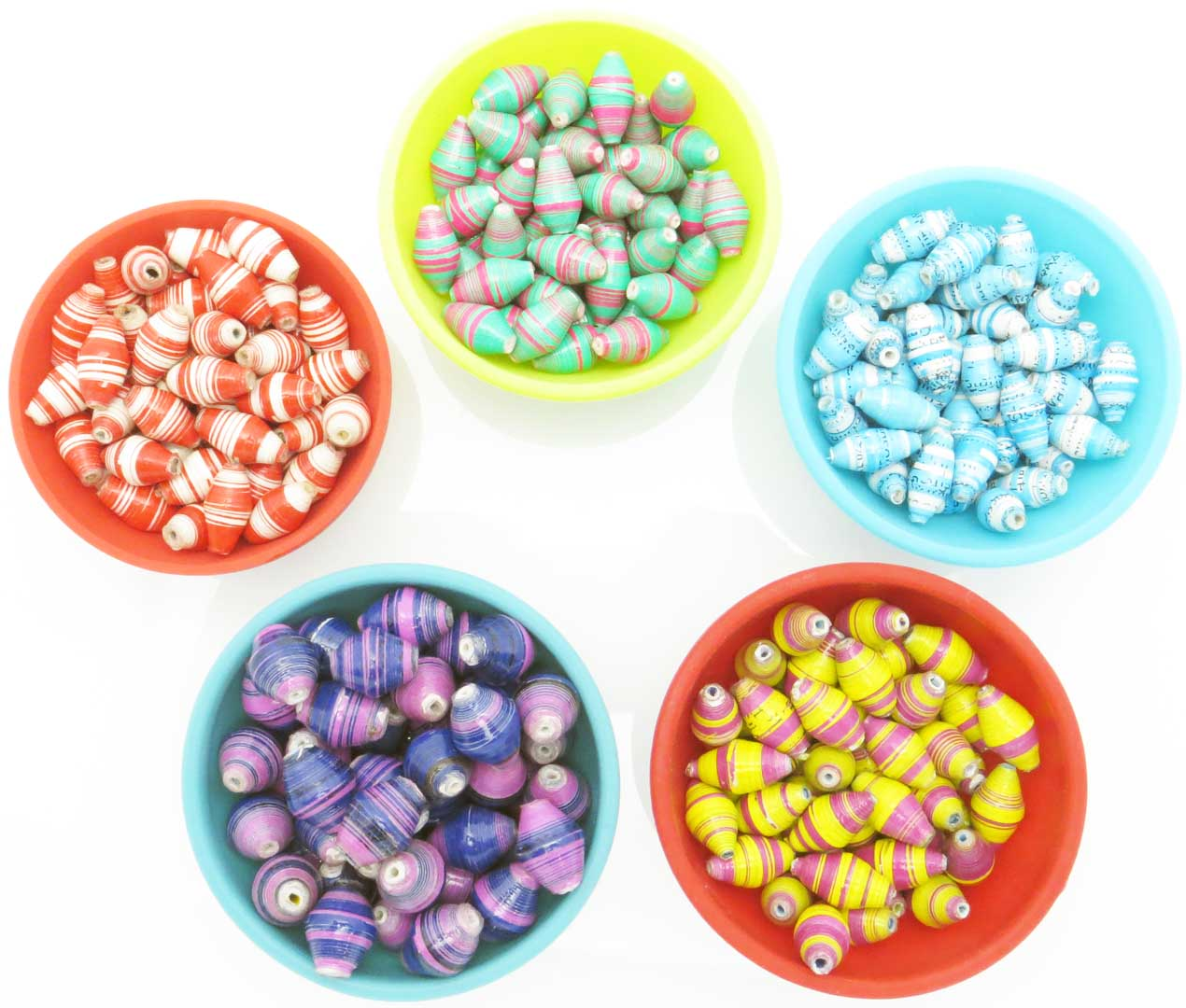 Assorted striped bead packs