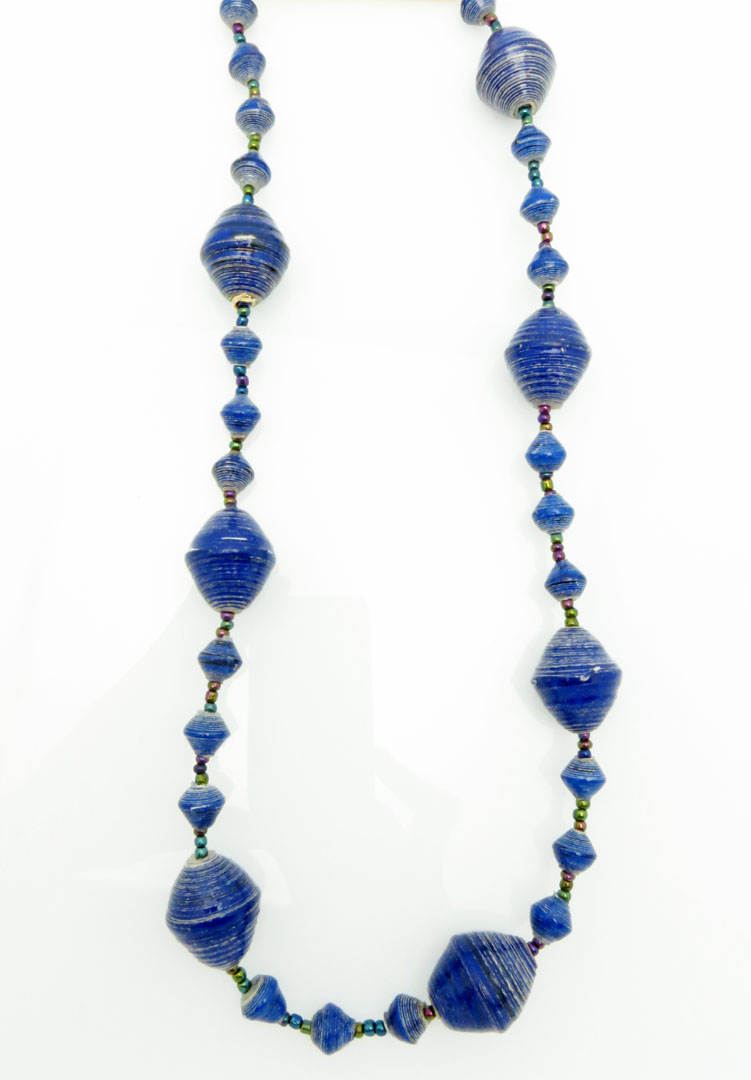 Royal blue gigantic bead necklace