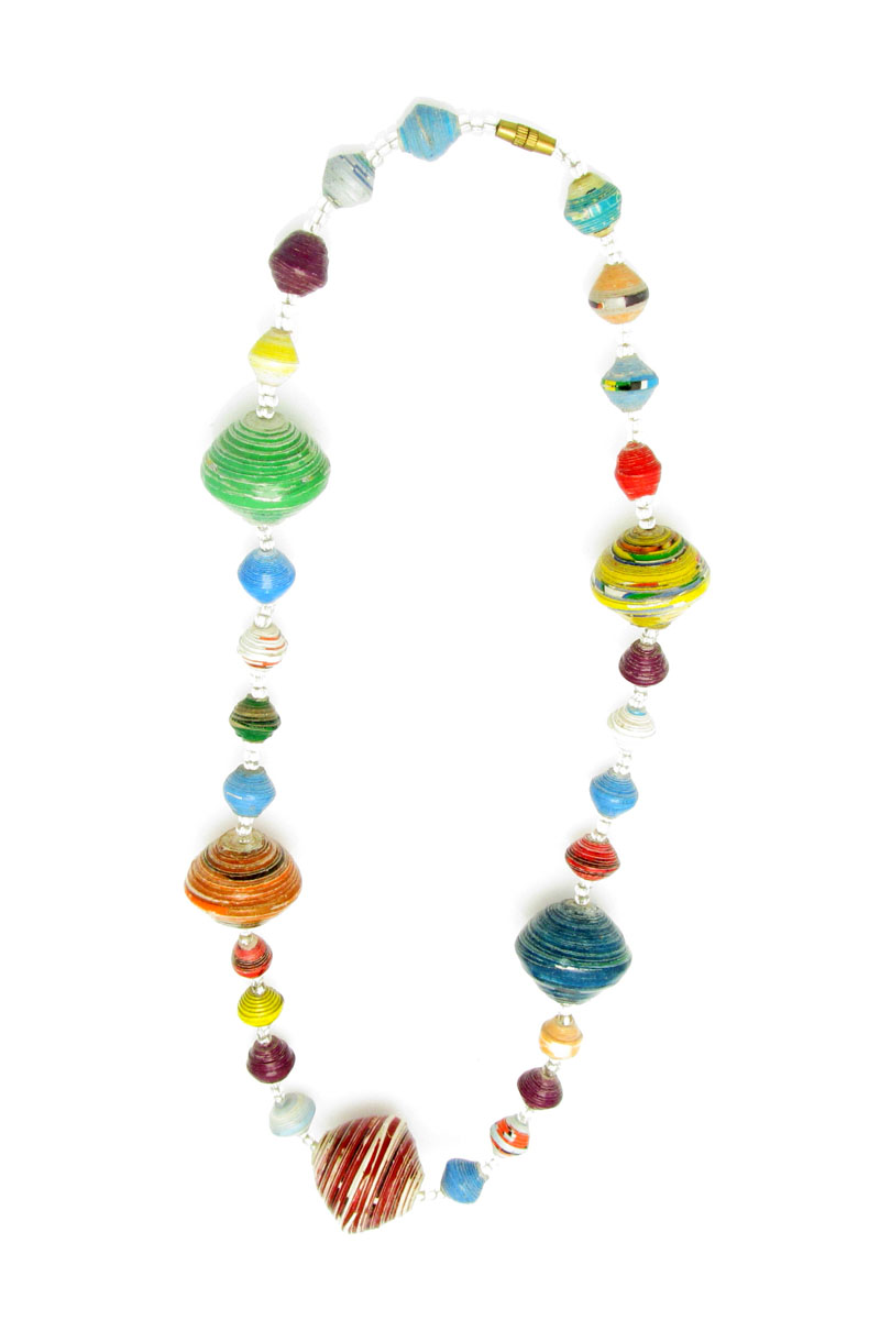 Multi-color gigantic bead necklace - short length