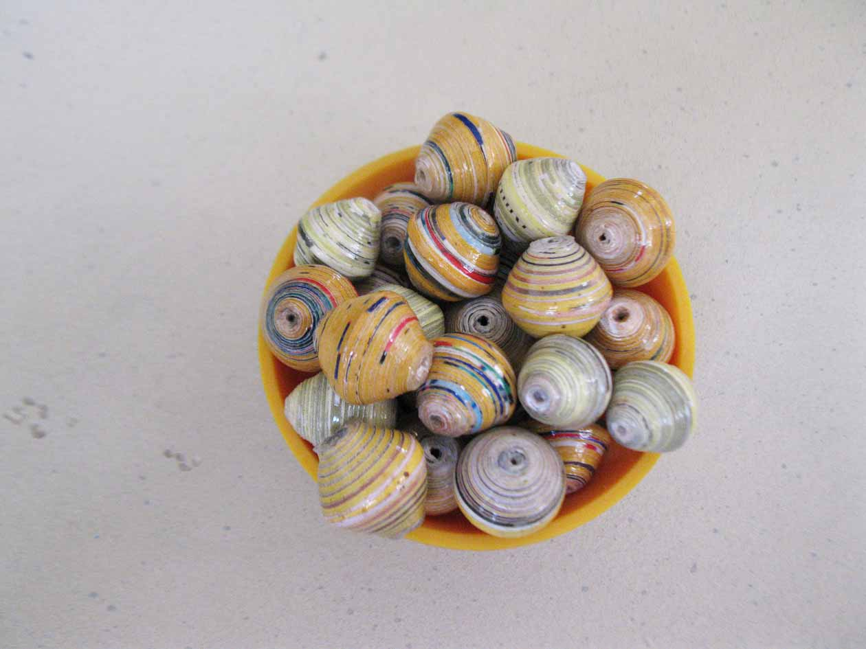 Round beads - yellows and golds